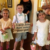 adorable flower girls and ringbearer at House Plantation