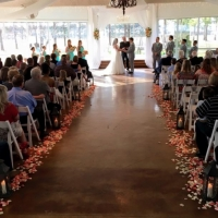 indoor february wedding at House  Estate with garden views