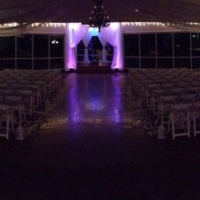 night wedding with lighting in Houston