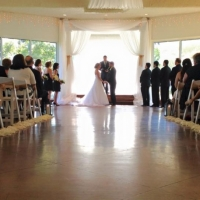 saying i do in july at House Plantation