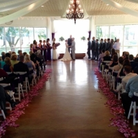 sharing vows on a beautiful summers day at House Plantation