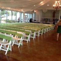 indoor weddings and the color green