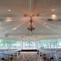 indoor wedding at house plantation