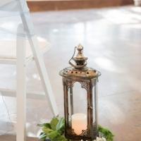 lantern aisle markers by Eric & Jenn Photography