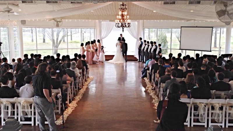 indoor weddings at house plantation