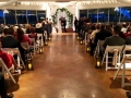 indoor wedding in dec at night with beautiful views