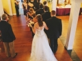 wedding march indoors at house plantation