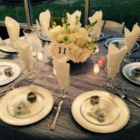 flowers and linens by vendors