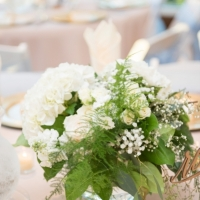 reception table flowers by Eric & Jenn Photography