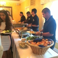 staff serving food