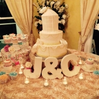 unique cupcakes and wedding cake.jpg