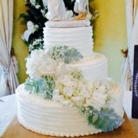 wedding cake with beauty and the beast topper.JPG