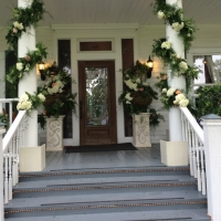 Entrance with flowers galore at House Plantation