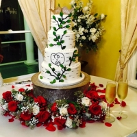 Nature four tiered wedding cake at House Plantation