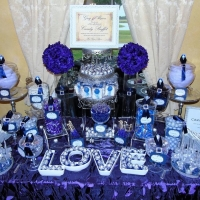 amazing candy bar in blue hues