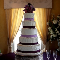 large elegant wedding cake