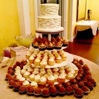 tasty and creative wedding cake spread
