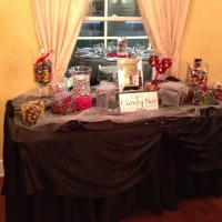 set up for candy bar