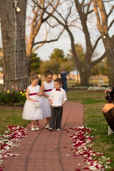adorable flower girls and ring bearers at a winter wedding-t