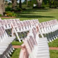 Outdoor chairs set up