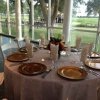 outdoor wedding view from the glassed ballroom