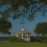 images of the gazebo and lake