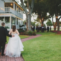 walk back from the gazebo - wedding venue photos