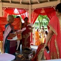 Intimate gazebo wedding at House Plantation