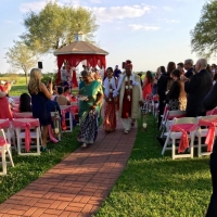 Walking the aisle at an Indian wedding at House Plantation