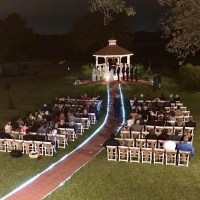 amazing night wedding next to pond in Hockley-t