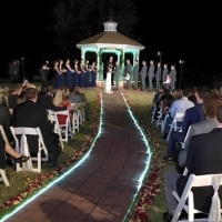 outdoor wedding on a december night