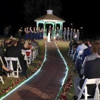 outdoor wedding on a december night