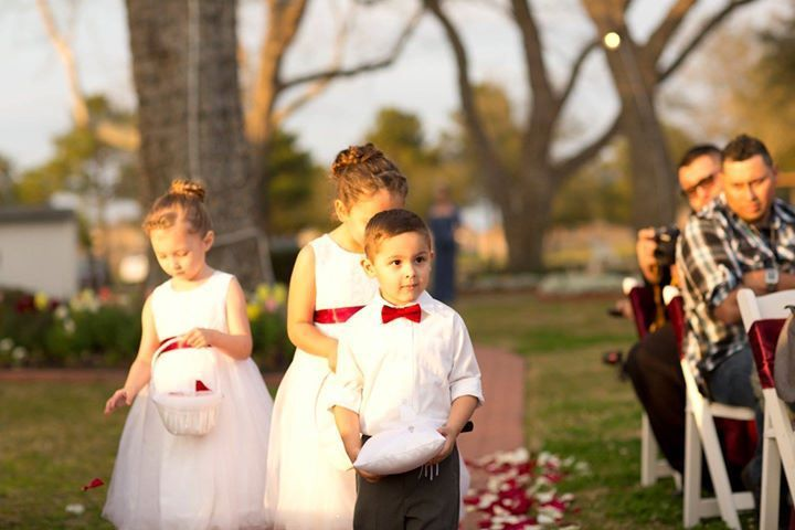 Flower girl and the ring bearer