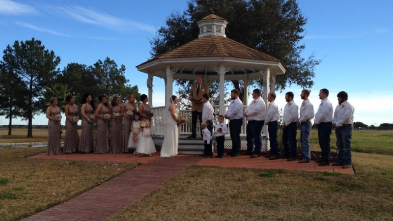 outdoor gazebo wedding venues in Houston