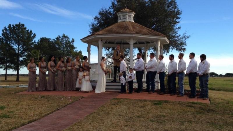 outdoor gazebo wedding venues in Houston