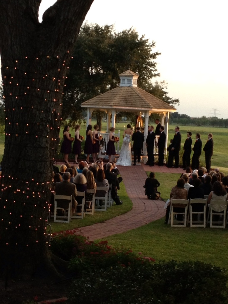 evening wedding at House Plantation - wedding venue in Houston Tx