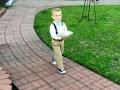 Adorable ring bearer at an outdoor wedding at House Plantation