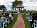 Baby blue chair sashes and an outdoor wedding at House Plantation