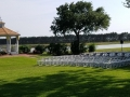 Katy outdoor wedding with lakeside views at House Estate