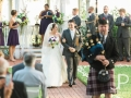 Sept outdoor wedding walking the aisle at a Houston venue