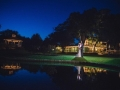 amazing night picture full of lights of a january wedding at House  Estate