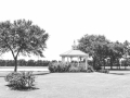 beautiful ground views of gazebo and lake at a Houston venue