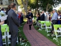 september outdoor wedding with bagpipes