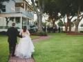 walk back from the gazebo - wedding venue photos