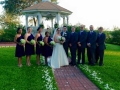 wedding party for an outdoor wedding in sept
