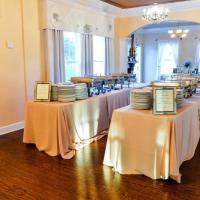 Indoor Food and Plate Buffet Setting