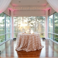 Wedding reception photos - His and Her table at House plantation