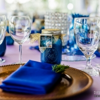 close up place setting for Houston reception table