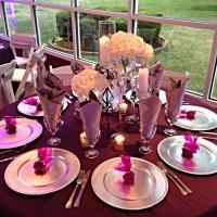 march wedding reception table