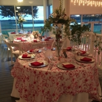 Wedding reception photos - reception with a lake view